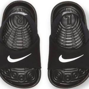 Infant Boy Black/White  Nike Summer Slides